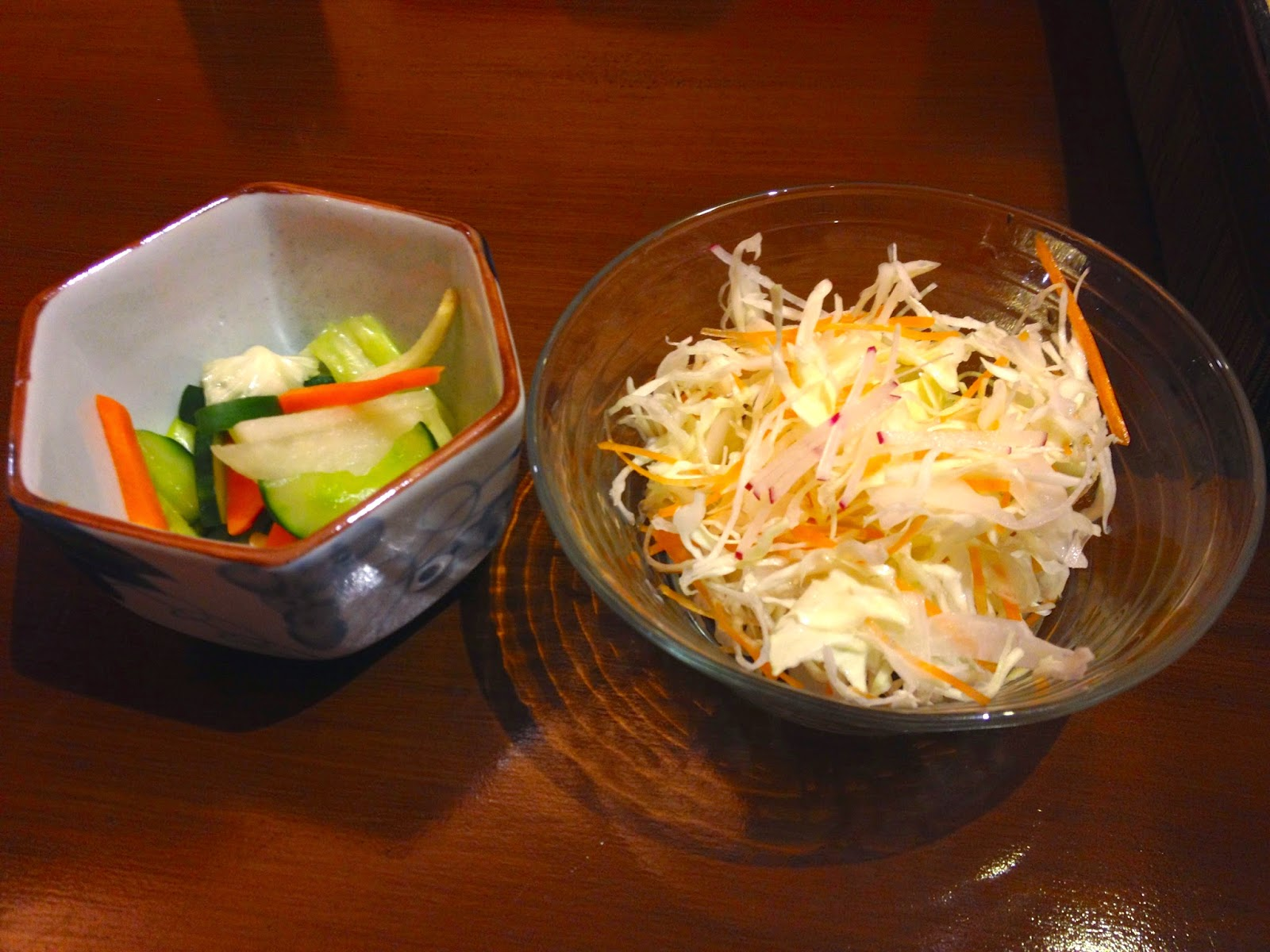 cabbage and pickled vegetables for Butadon set