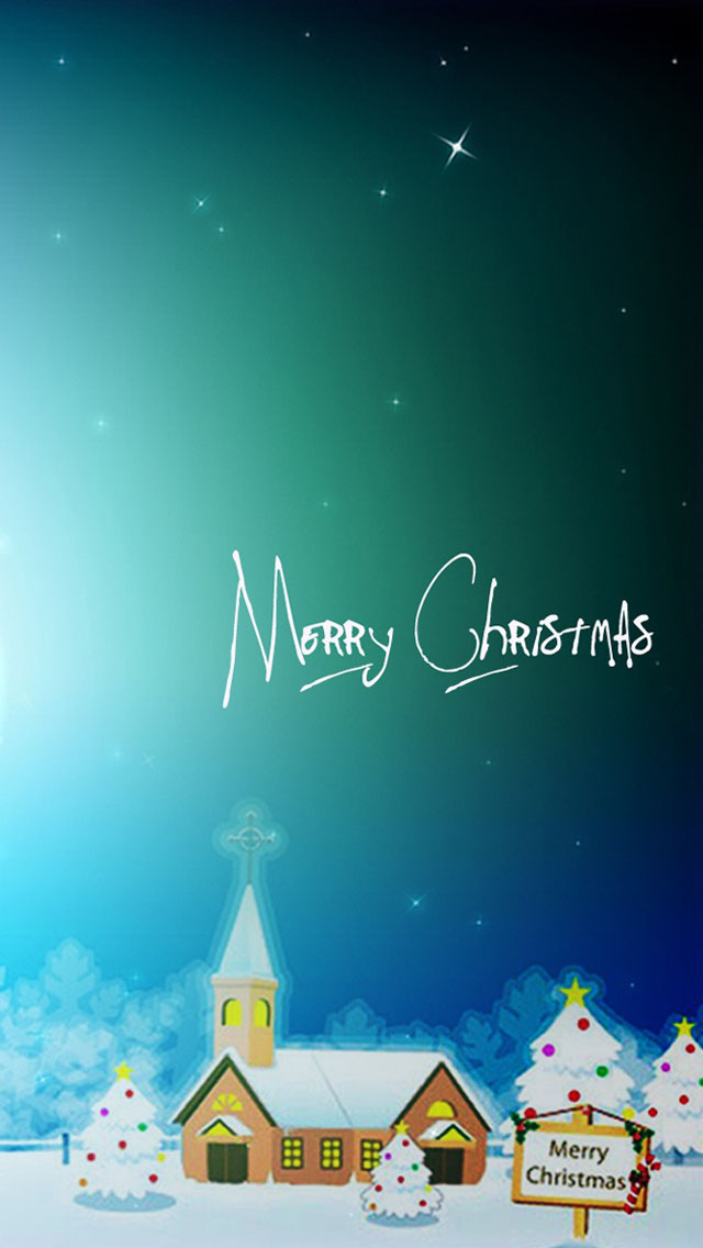 Happy Merry Christmas iPhone 5 Wallpaper