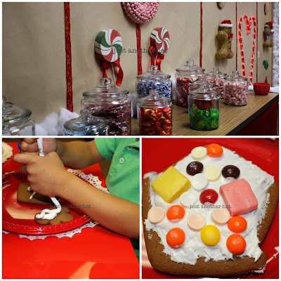 santas wonderland gingerbread house making