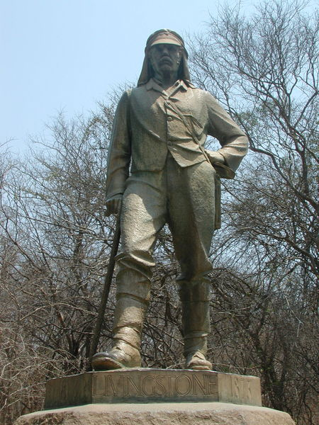 Statue Of Livingstone In Zimbabwe At The Victoria Falls  Mr Livingstone I Presume