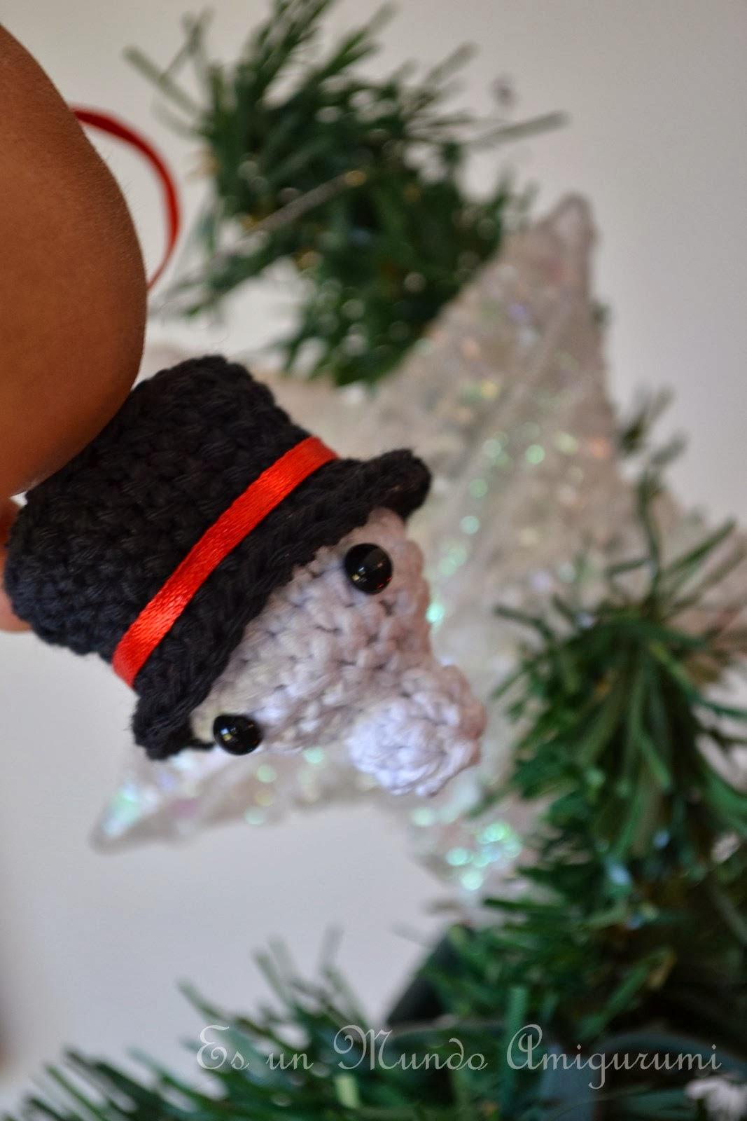 Es un Mundo Amigurumi: El patrón del Mini Muñeco de Nieve... un mini ...
