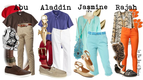 Disney Family, Aladdin Outfits