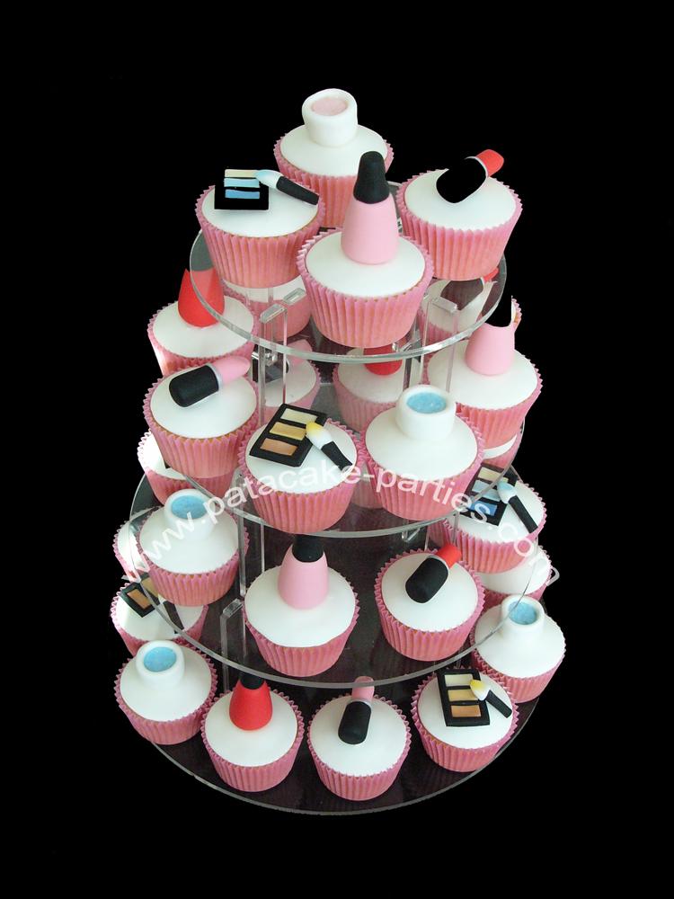 Makeup Cake Decorations : Pat-a-Cake Parties: Make-Up Cupcakes