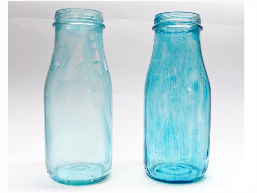 Kell belle studio adventures in how to tint glass jars for How to paint glass bottles