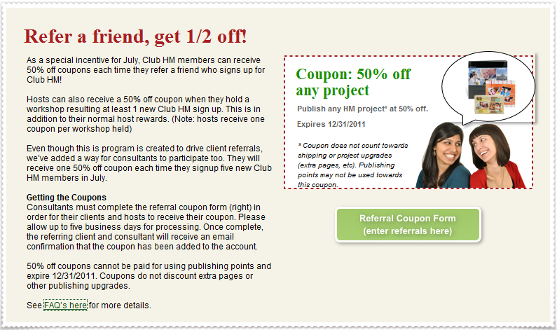 My heritage coupon code