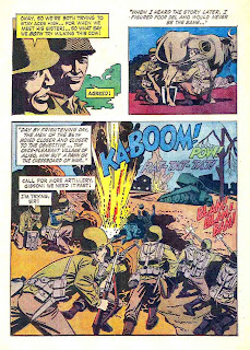 The Gallant Men v1 #1 dell war comic book page art by Russ Manning