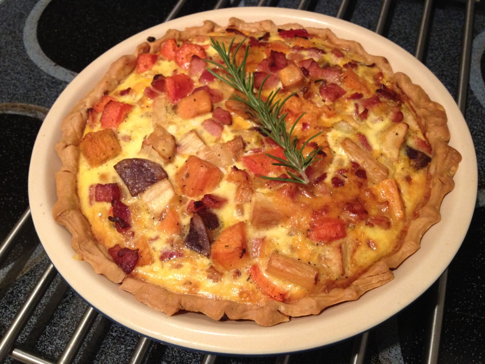 Pin & Cleaver: Roasted Root Vegetable and Ham Quiche