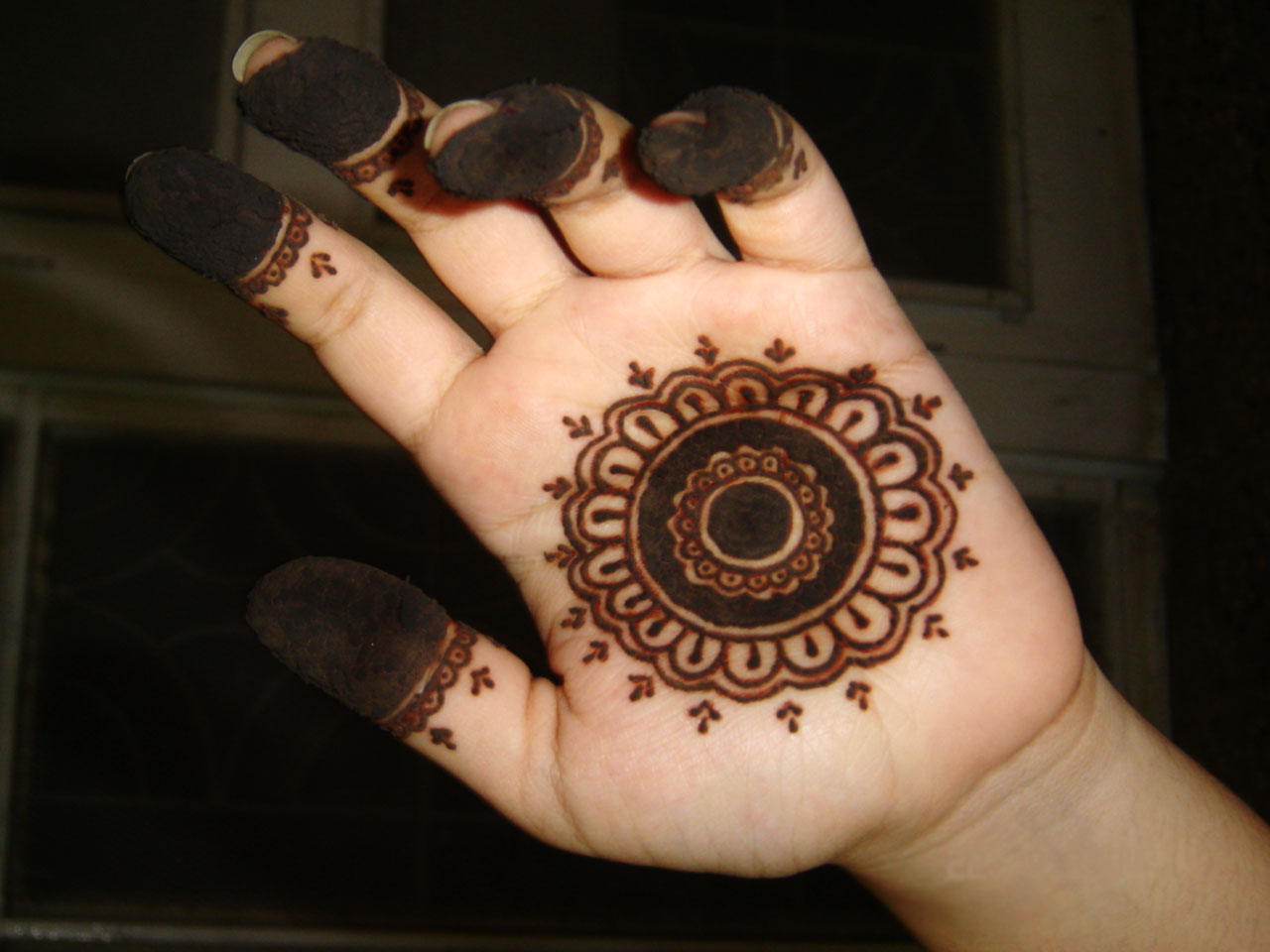 Mehndi Palm Design : Henna sense simple mehendi palm designs i