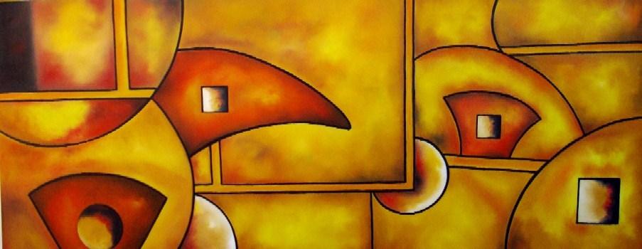 Pinturas Cuadros al Óleo: Abstractos modernos coloridos