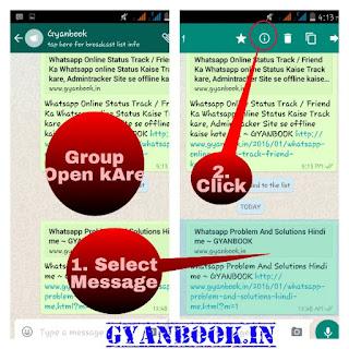 Whatsapp group, Broadcast Message seen