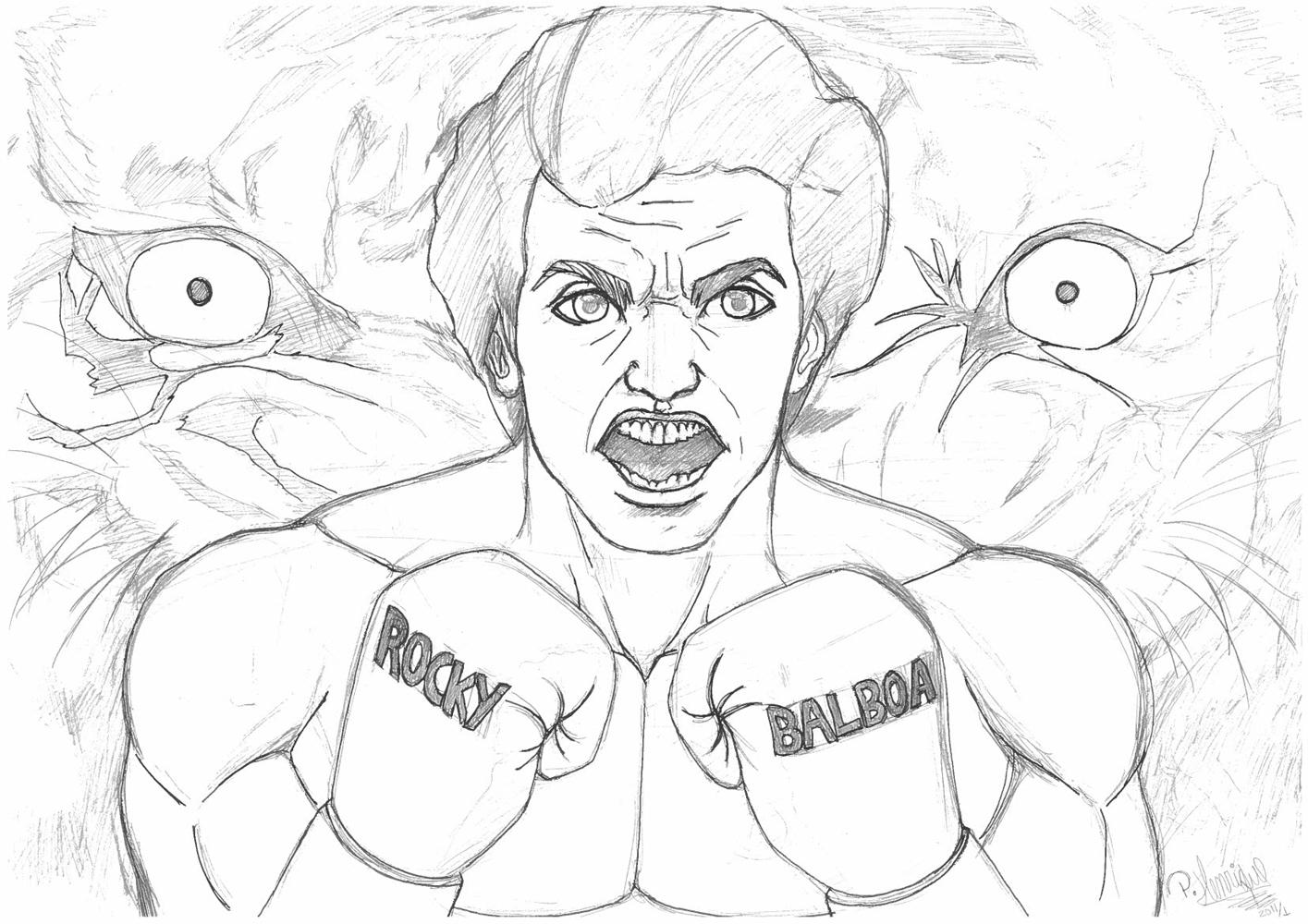 Dibujos De Rocky Balboa Para Colorear | .imagenesmy.com