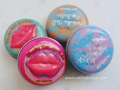 Peripera Wonder Talk Lip Balms tins