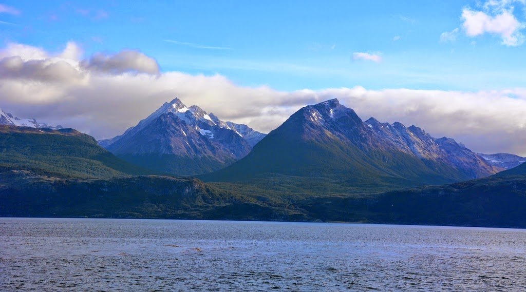 Beagle Canal Ushuaia mountains