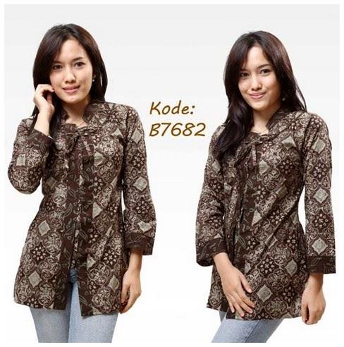 Model Baju Batik Wanita Lengan Panjang  Trend Model Baju Terbaru