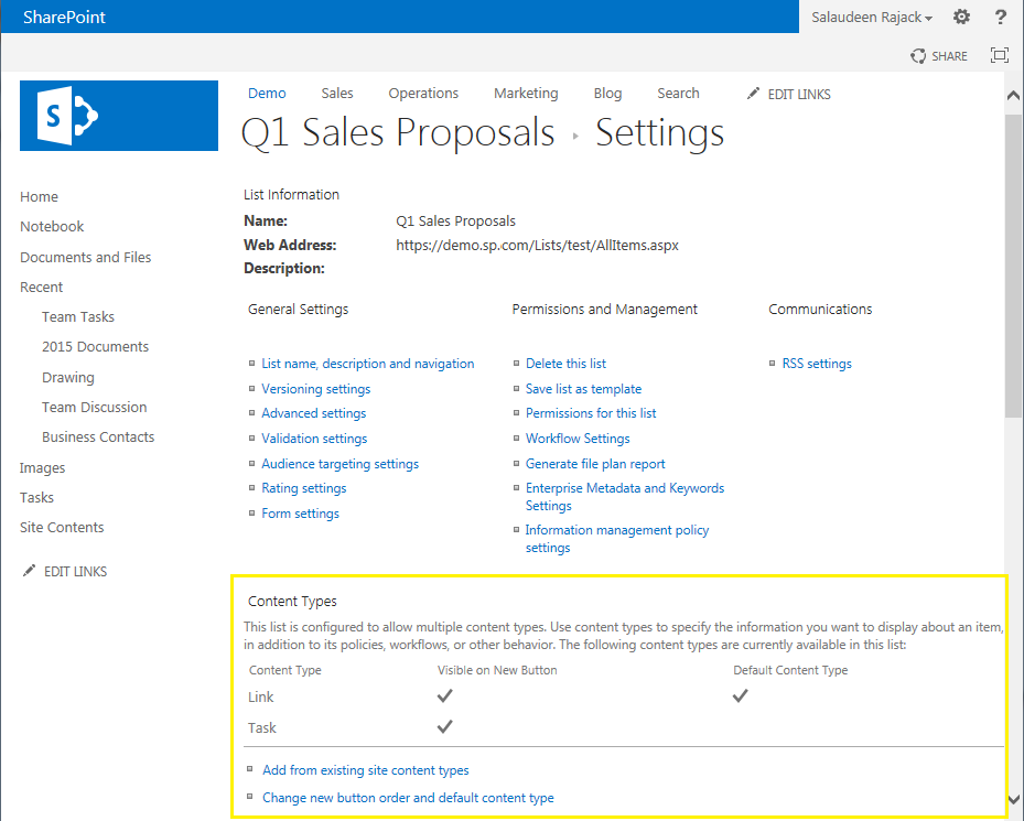 sharepoint powershell add content type to list