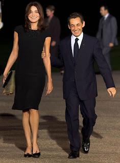 le président Sarkozy lors d'une soirée bien arrosée