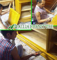 Proses Finishing Furniture Politur Warna Dasar