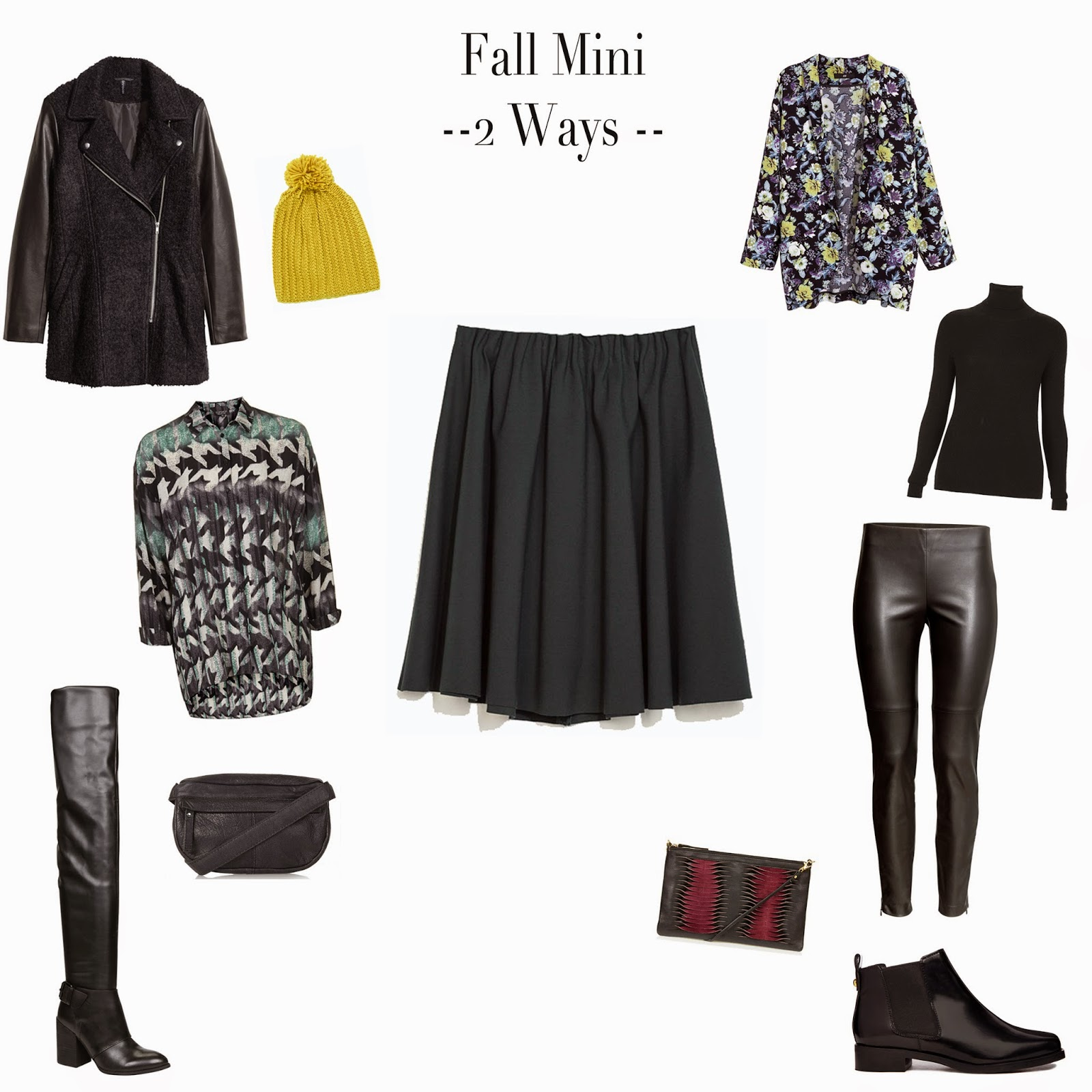 Edie's Closet; Fall Mini, 1 skirt 2 ways