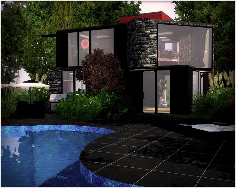 Latoya sims 758 modern house for bridgeport for Modern house sims 3