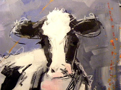 Cow art painting 'Friese Holsteiner' detail 001
