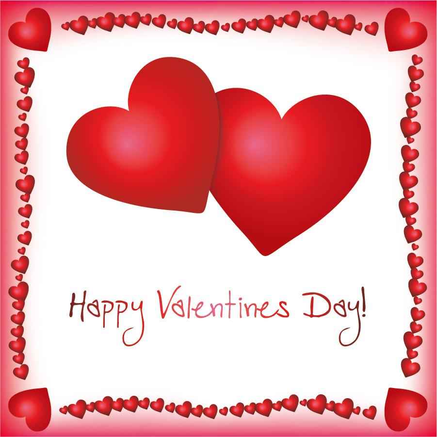 可愛いハートのバレンタインデー素材 4 Vector Heart lovely valentine day elements イラスト素材1