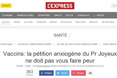 La pétition du professeur Joyeux contre la vaccination forcée fait grincer des dents les médias et la ministre de la santé Capture4