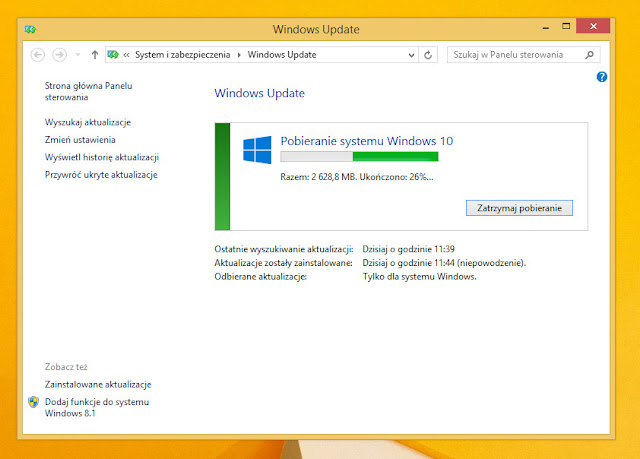Windows 10 -aktualizacja z Windows 7, 8, 8.1