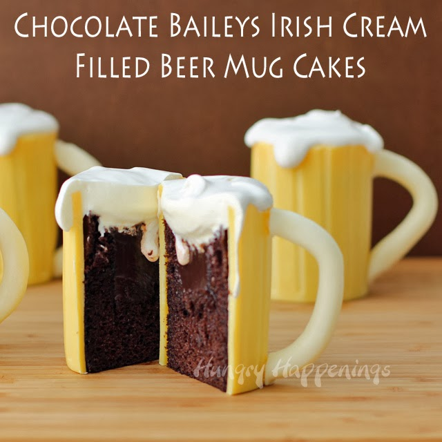 Beer Mug Cakes | HungryHappenings.com