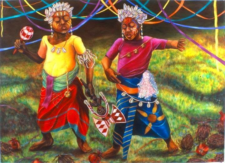 Children, African roots traditional play, the summer of Gods | artpreneure