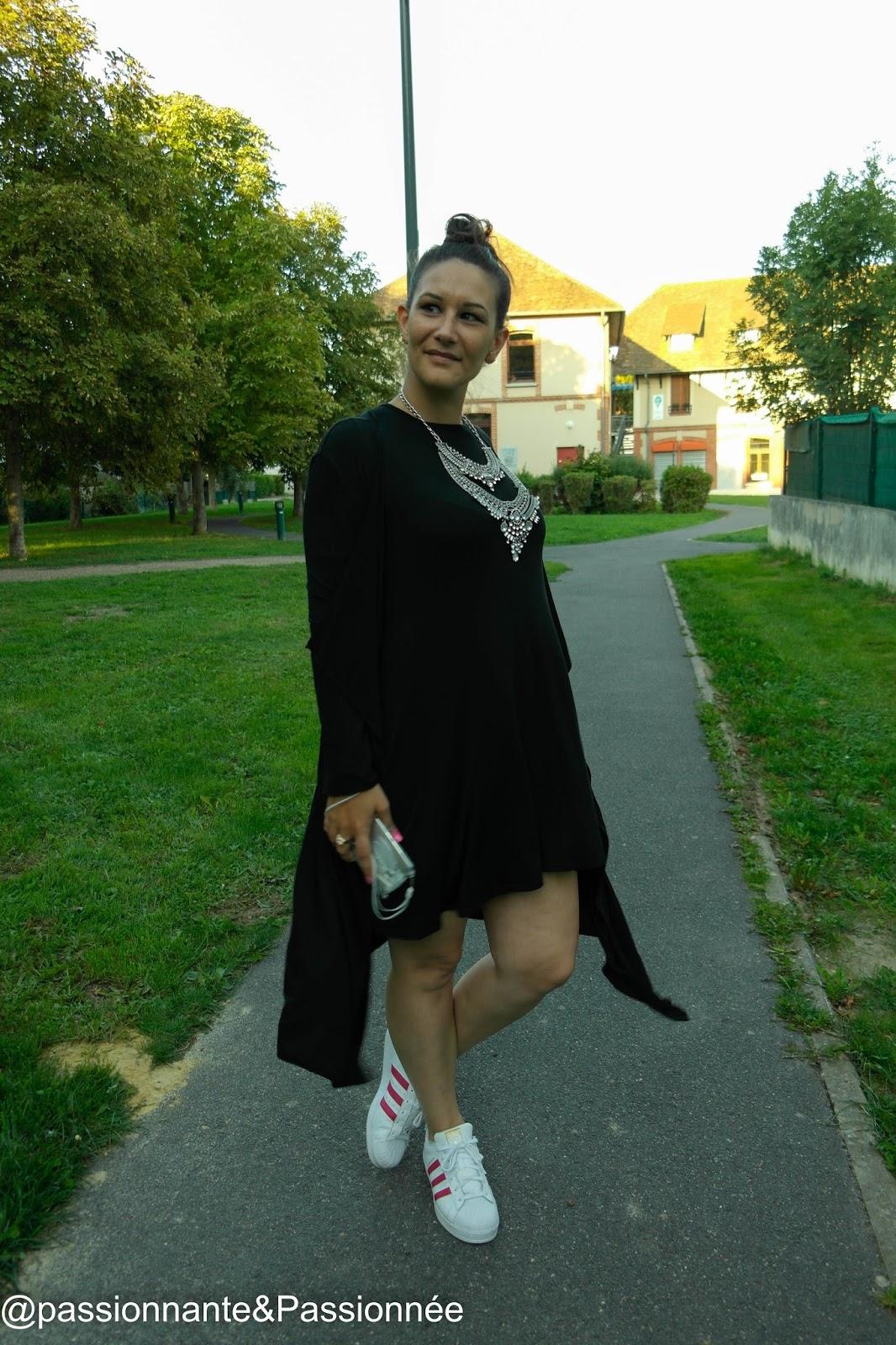 robe noire fluide boohoo