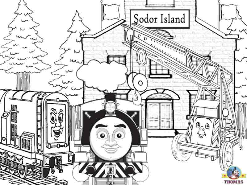 thomas friends coloring pages free - photo#36