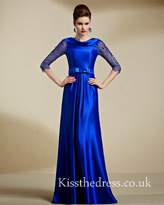 blue mother prom dress