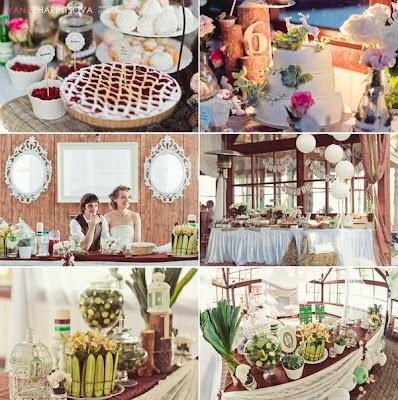 decoração casamento rustico vintage