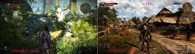 witcher 2 vs witcher visuals