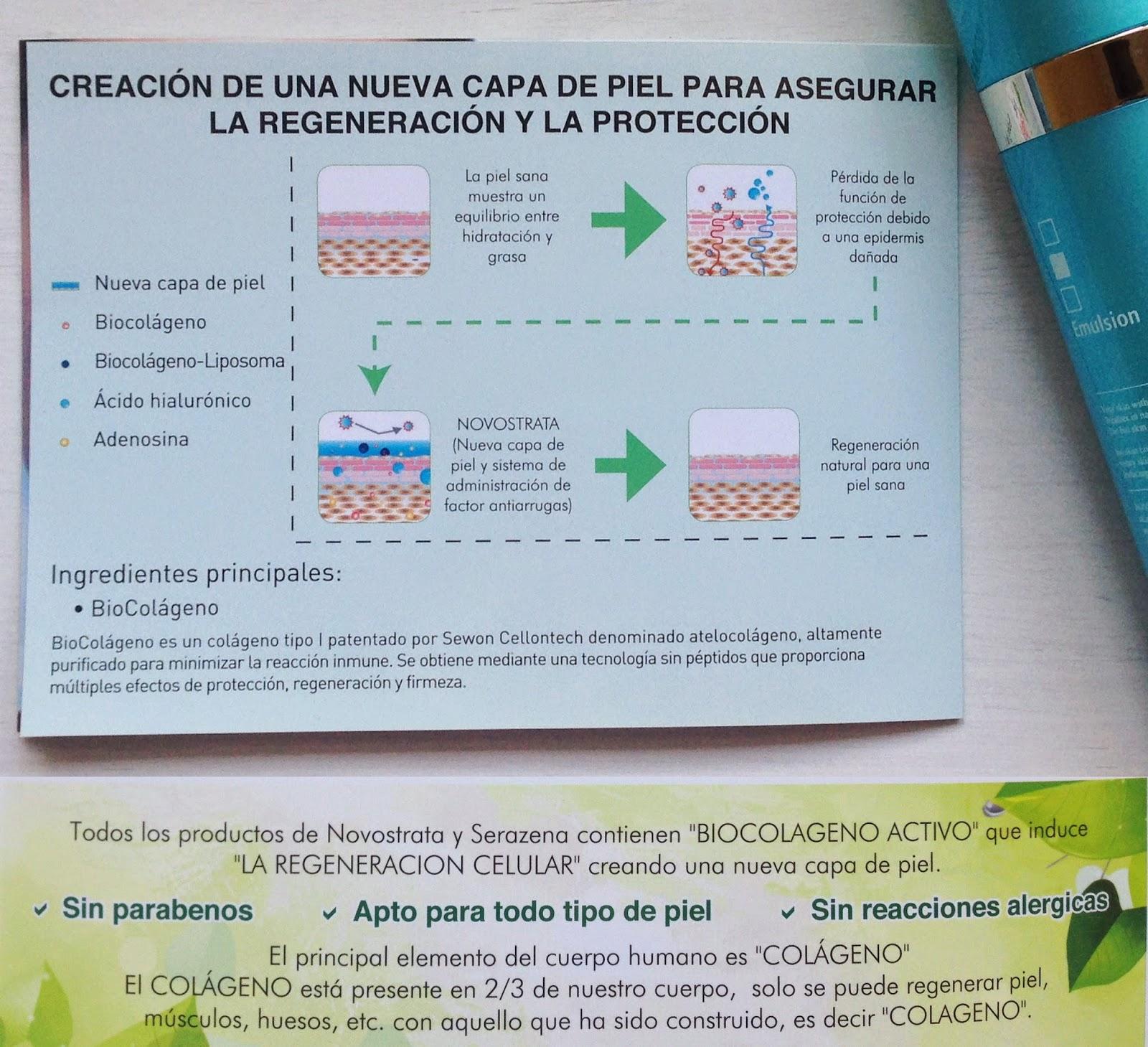 colágeno, Novostrata, cosmética, emulsión, blog, blogger