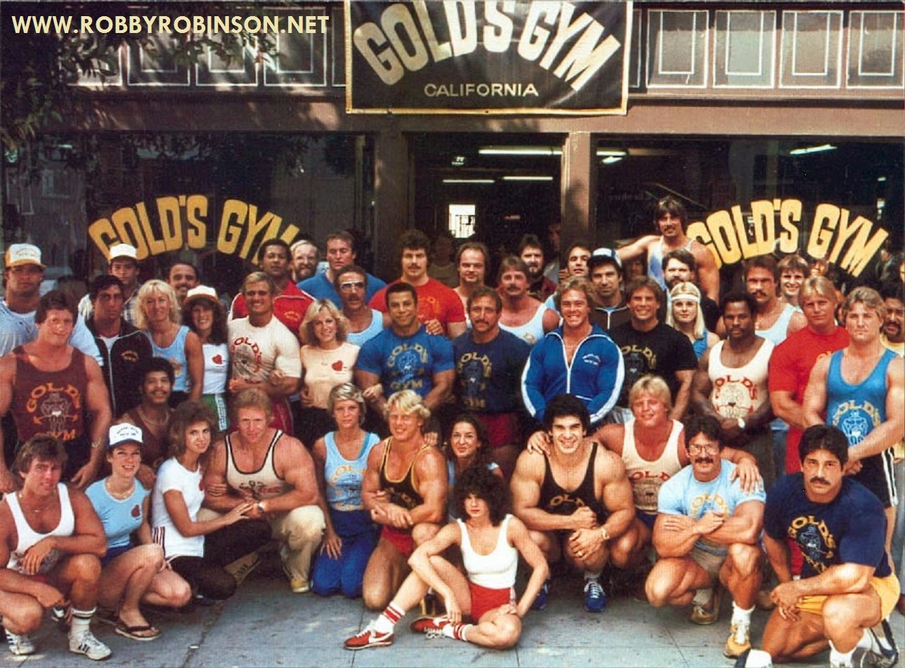 "Bodybuilders in front of he old legendary Gold's on Pacific Ave in Venice; California Read about RR's training and life experience, about other legends of Golden Era of bodybuilding  and what really happened behind the scenes of Weider's empire - in RR's BOOK ""The BLACK PRINCE; My Life in Bodybuilding: Muscle vs. Hustle"" ● www.robbyrobinson.net/books.php ●"