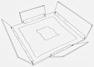 illustration of sink mat by Gwen Spicer, art conservator in private practice. Archival materials for safe storage