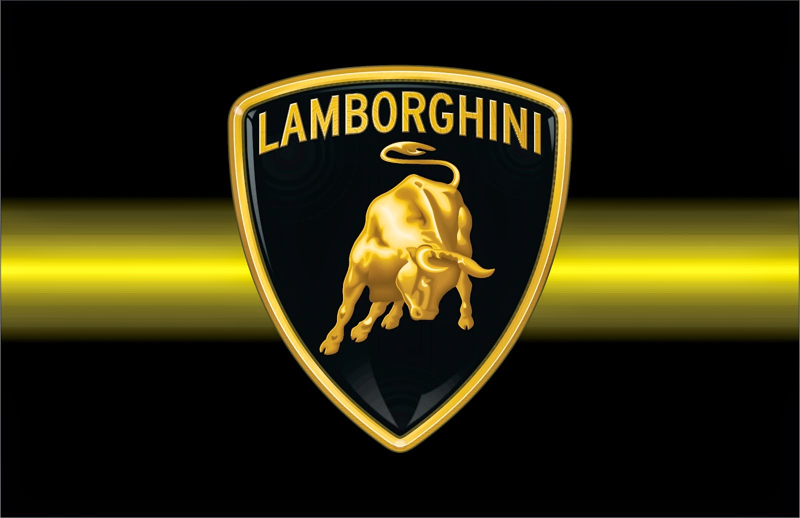 Lamborghini Logo Black Wallpaper Free Download