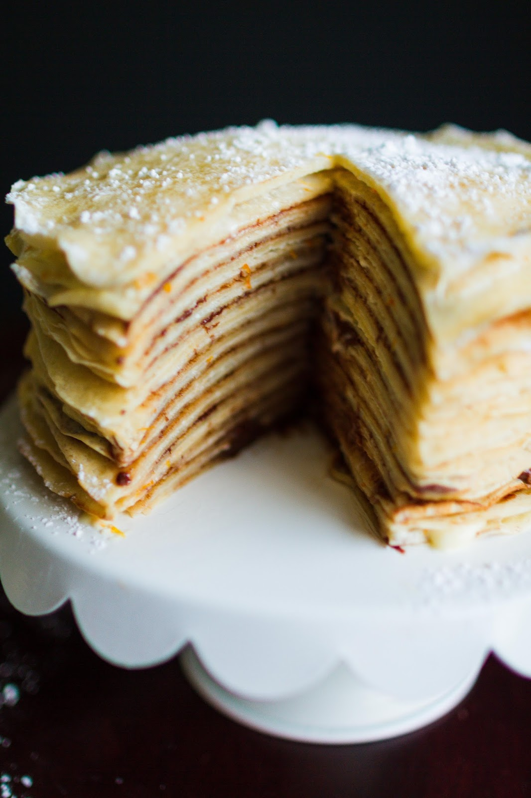 orange cream and nutella crepe cake my name is snickerdoodle. Black Bedroom Furniture Sets. Home Design Ideas