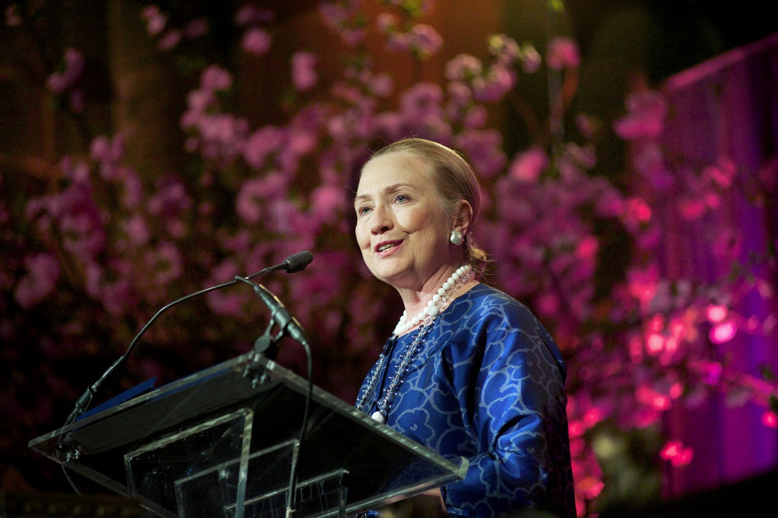 Hilary Clinton at the Global Fund for Women 25th Anniversary Gala