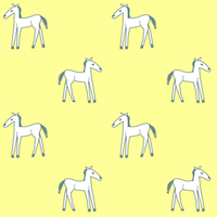 free printable horse doodle pattern