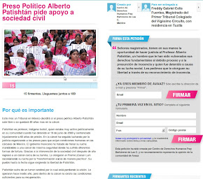 Firma por la Libertad de Alberto Patishtn