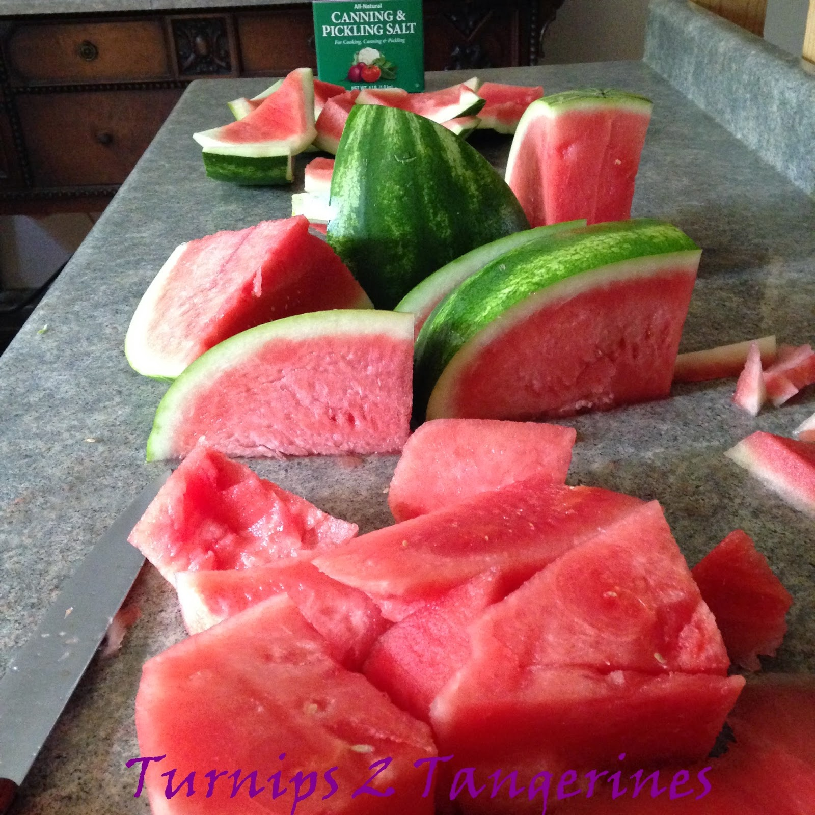 Old Fashioned Watermelon Rind Pickles