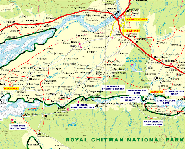 map of chitwan