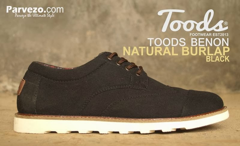 Toods Benon Natural Burlap Black