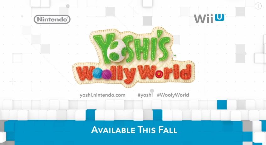Nintendo Direct April 1 2015 Yoshi's Woolly World hashtag typo #WoolyWorld