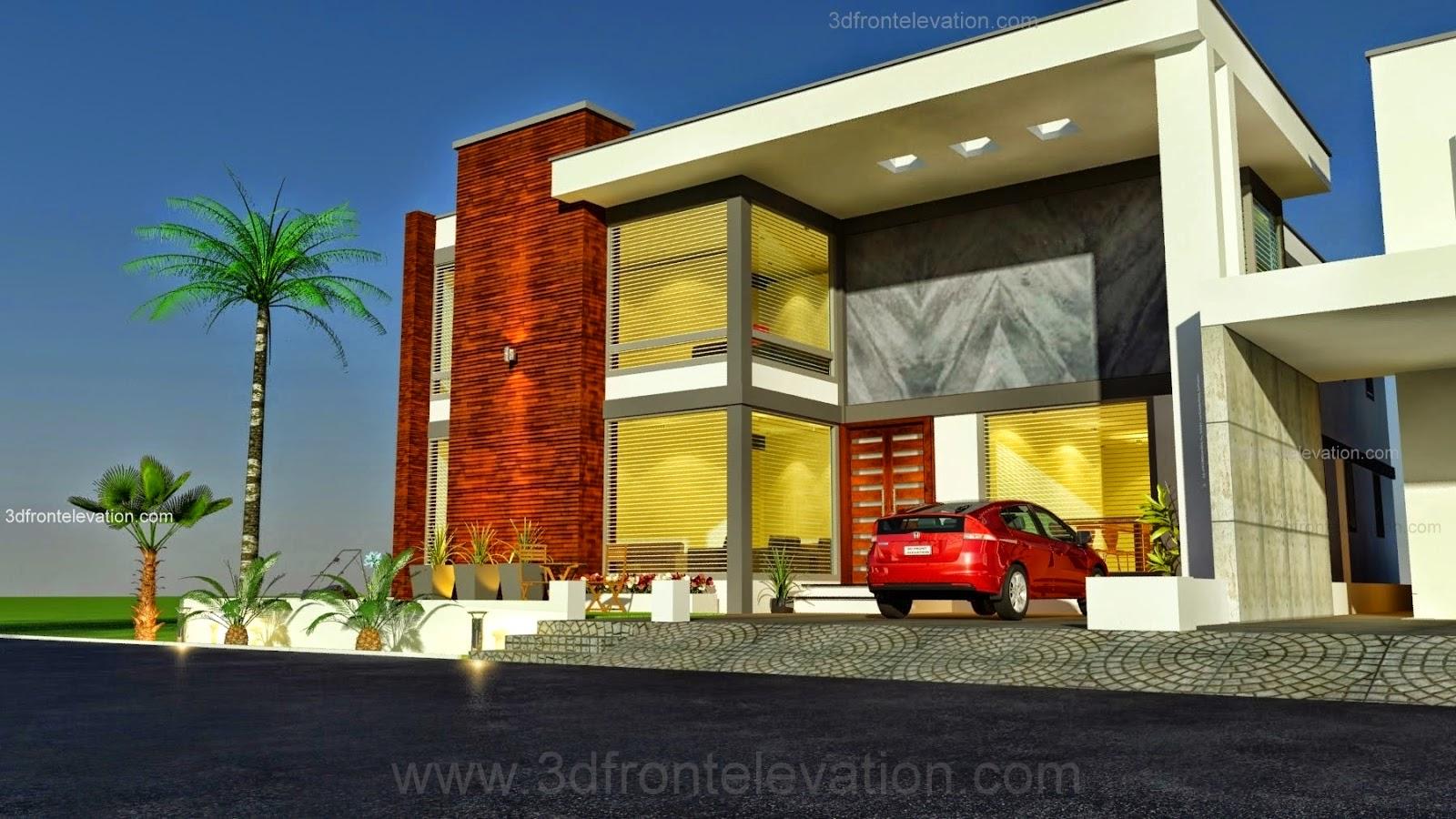 3d front 1 kanal modern simple elegant for Design my house