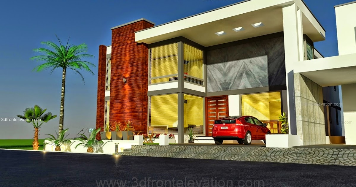 Front Elevation Of House In Karachi : D front elevation kanal modern simple elegant