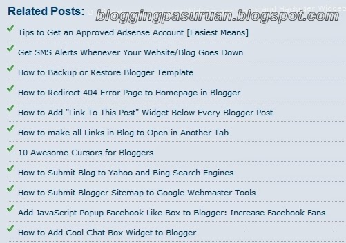 Cara Membuat Artikel Terkait ( Releated Article ) di Bawah Postingan #PART-2