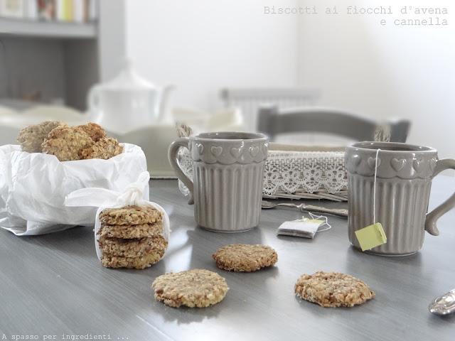 healthy cooking. biscotti ai fiocchi d'avena e cannella